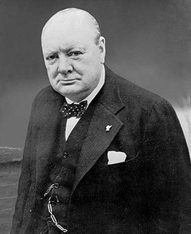 Winston Churchill profile photography