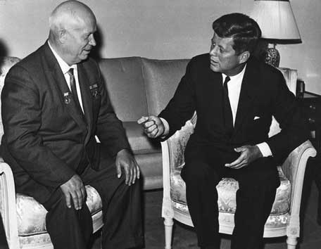 Nikitia Khrushchev and JFK