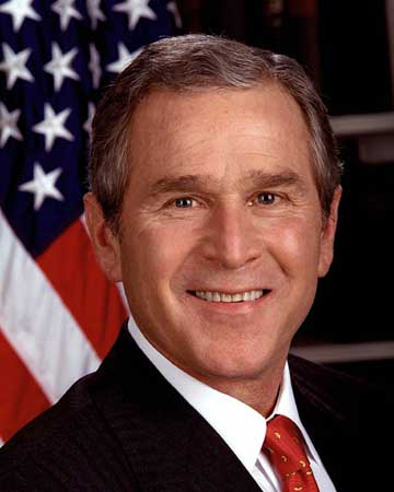 George W. Bush profile photograph