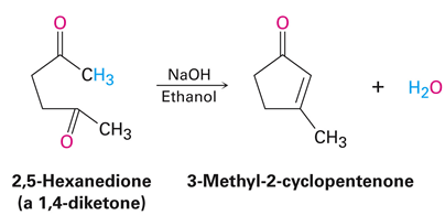 Intramolecular aldol condensation yielding five and six-membered rings