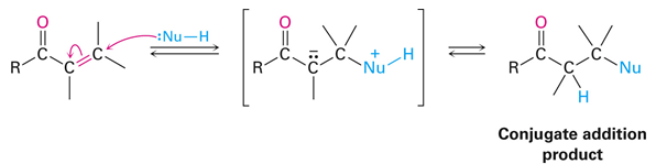 An example Stork reaction with a conjugate addition product