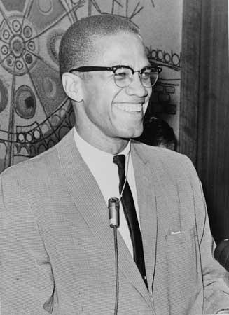 Malcolm X profile shot