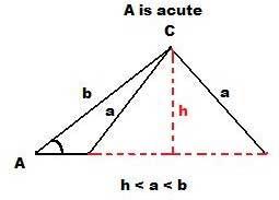 Law of Sines via SSA - acute angles