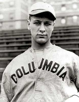 Lou Gehrig in his Columbia uniform