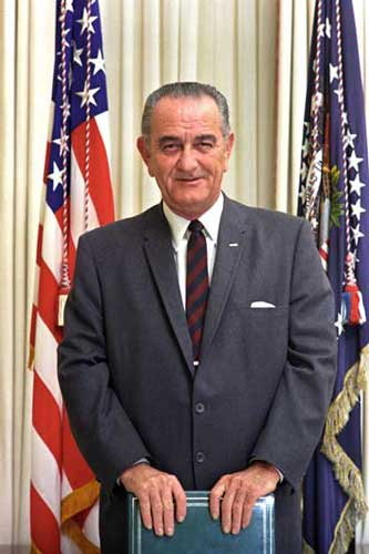 Lyndon B Johnson Presidential Photo
