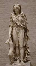 Luna, or Diana, the moon goddess