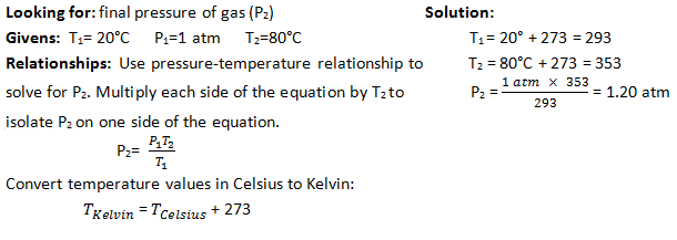 Pressure-Temperature Relationship Practice Problem